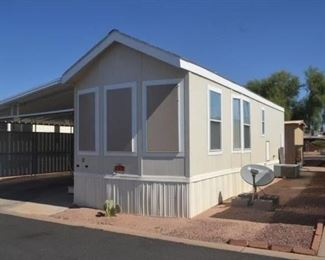 THIS FLEETWOOD HOME IS LIKE NEW!! 2007 LOCATED IN STAR VALLEY RANCH IN APACHE JUNCTION. PART OF THE SHOW LOW ESTATE WAS ONLY USED IN THE VALLEY OCCASIONALLY. HAS VAULTED CEILINGS, ONE BED ONE BATH FURNISHED WITH A COVER CARPORT AND 12 BY 12 SHED. ASKING 21,999.00 RENT IS APPROX 377.00 PER MONTH LESS IF YOU PAY BY YEAR. CLICK TO POOL FOR ALL THE AMMITIES INCLUDED