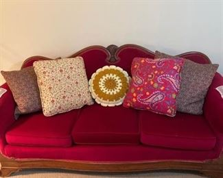 Red Couch and Chair