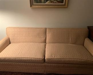 Couch free of blemishes with original upholstery.