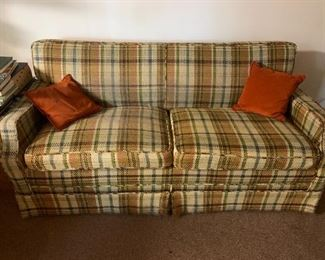 blemish-free upholstered couch