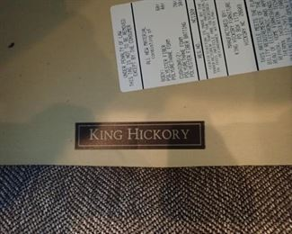 KING HICKORY SECTIONAL QUALITY CRAFTSMANSHIP / NEUTRAL EARTH TONE  TWEED