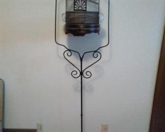 antique bird cadge