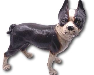 Cold painted cast iron Boston Terrier dog doorstop. Bidding ends at 3 p.m. on 7-20-2020.  Register at https://auctions.mlestatesales.com.  Don't forget to check out our other auctions too!