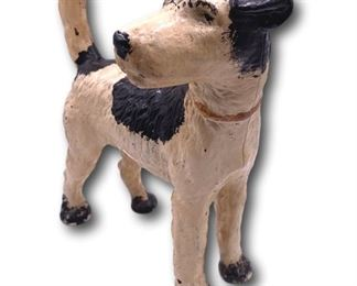 Cold Painted Cast Iron Dog Doorstop. Bidding ends at 3 p.m. on 7-20-2020.  Register at https://auctions.mlestatesales.com.  Don't forget to check out our other auctions too!