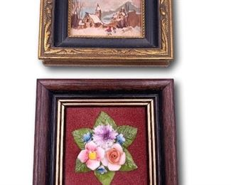Pair of miniature framed original art. Bidding ends at 3 p.m. on 7-20-2020.  Register at https://auctions.mlestatesales.com.  Don't forget to check out our other auctions too!