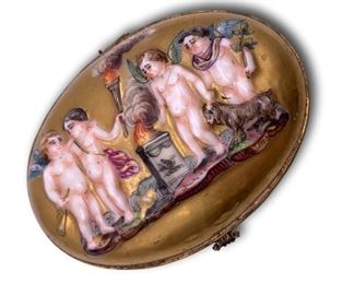 Capodimonte trinket box. Bidding ends at 3 p.m. on 7-20-2020.  Register at https://auctions.mlestatesales.com.  Don't forget to check out our other auctions too!