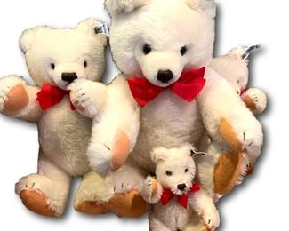 Collection of Steiff bears - new in box. Bidding ends at 3 p.m. on 7-20-2020.  Register at https://auctions.mlestatesales.com.  Don't forget to check out our other auctions too!