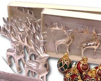 Collection of holiday place card holders. Bidding ends at 3 p.m. on 7-20-2020.  Register at https://auctions.mlestatesales.com.  Don't forget to check out our other auctions too!