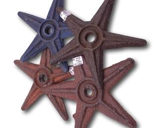 Collection of primitive cast iron stars. Bidding ends at 3 p.m. on 7-20-2020.  Register at https://auctions.mlestatesales.com.  Don't forget to check out our other auctions too!