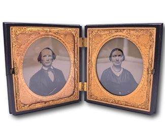 Pair of daguerrotypes in double union case. Bidding ends at 3 p.m. on 7-20-2020.  Register at https://auctions.mlestatesales.com.  Don't forget to check out our other auctions too!