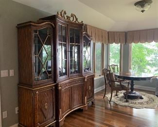 Maitland Smith English French Regency Style China Cabinet Bookcase Breakfront GORGEOUS               Destined  to become family heirloom !