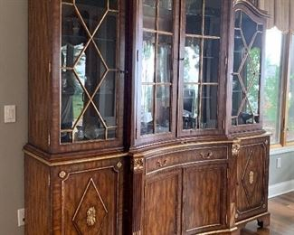 Maitland- Smith English French Regency Style China Cabinet Bookcase Breakfront GORGEOUS