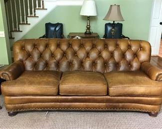 Lexington Tufted leather sofa