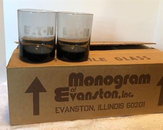 11D, Set of 8 Eaton Cutler Hammer glasses in box, $24/all