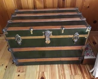 Leiberman railroad antique trunk