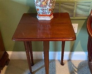 Statton small drop leaf table $75 - tall Asian vase $59