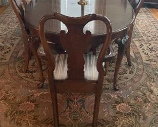 Statton dining table w/6 chairs, leaves & pads $595