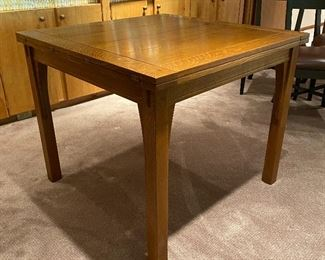20% off of $1095  Stickley flip top table - slides and flips open to double its size