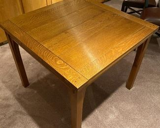 Stickley flip top table - slides and flips open to double its size