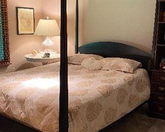 $445 Queen size black poster bed - EXCELLENT