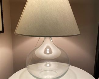 20% off of $169 Large glass bottle lamp