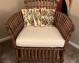 20% off of $175 ea Rattan chair 1 of 2 sold separately