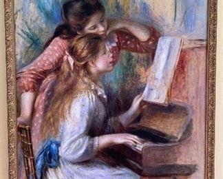 20% off of $35 Print - Renoir - girls at the piano