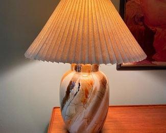 20% off of $75 Mid-century modern ceramic lamp