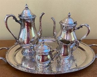 20% off of $65 Silver-plated tea/coffee service w/large handles tray