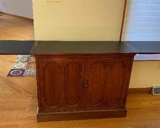 Vintage serving cabinet - excellent bar! opened