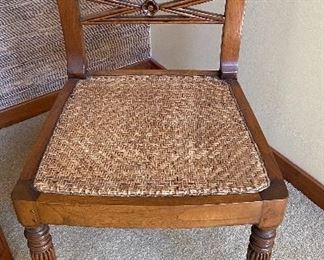 20% off of $149 Bauer woven seat side chair