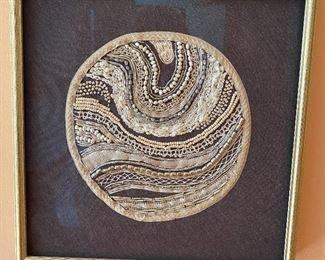 20% off of $69 Hand made framed beaded embroidery 1 of 2