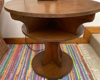 20% off of $55 Round wood occasional table