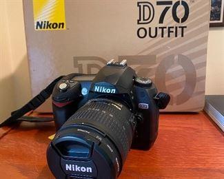 20% off of $249 Nikon D-70 Camera w/case & accessories