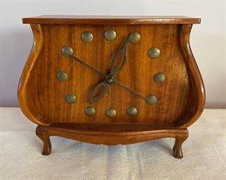 Vintage walnut clock