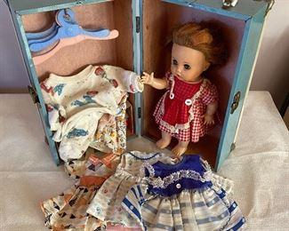 """20% off of $75 - Vintage R&B """"Littlest Angel"""" doll with original dresses & case"""