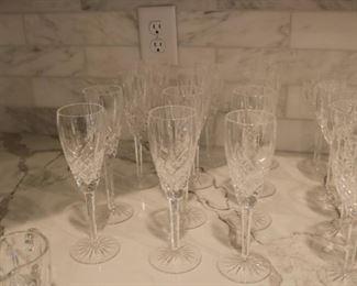 Waterford Crystal Araglin  Champagne Flutes Stemware