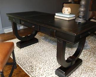 "Arhaus Athens Writing Desk Dimensions: 66""W X 31""D X 31""H"