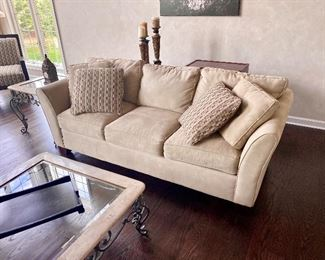 sofa / couch with accent pillows