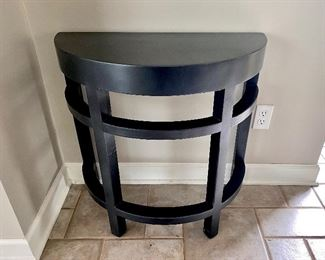 Black half moon accent table
