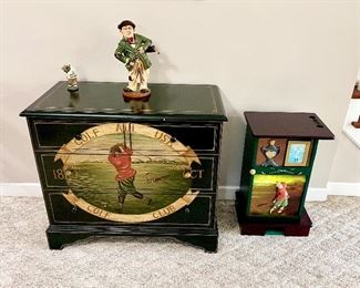 golf themed décor golf chest of drawers golf accent table