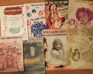 antique and vintage sheet music