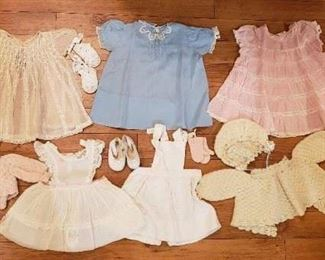 vintage baby clothing in beautiful condition