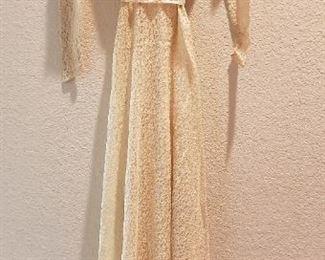 1930s Wedding Dress with Beaded Tiara