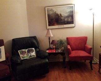Recliner, office seating