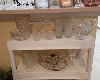 Fostoria American Cakestand and accessories