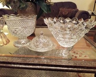 Crystal and Glass Serving Pieces