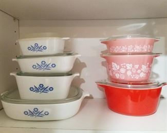 Corningware and Pyrex