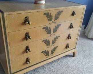Vintage Johan Tapp dresser with acorn drawer pulls