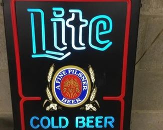 Vintage Miller Light Beer Light Sign